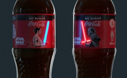 Star Wars-themed Coca-Cola bottle labels – a brand identity breakthrough